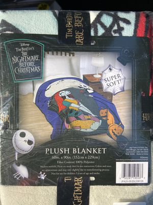 Nightmare before Christmas plush blanket for Sale in Pomona, CA