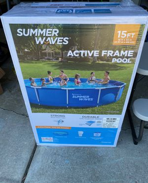 Summer Waves Active Frame 15ft x 33in Pool for Sale in Clinton Township, MI