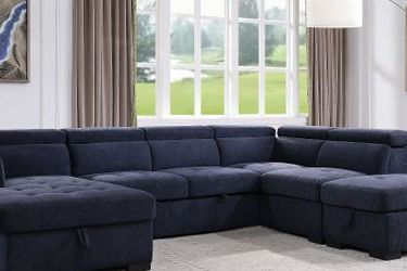 Storage Sleeper Sectional Sofa Anda Ottoman /// Financing Available for Sale in Fort Lauderdale,  FL