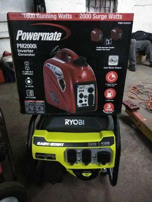 Ryobi and powermate generators brand new for Sale in Baltimore, MD