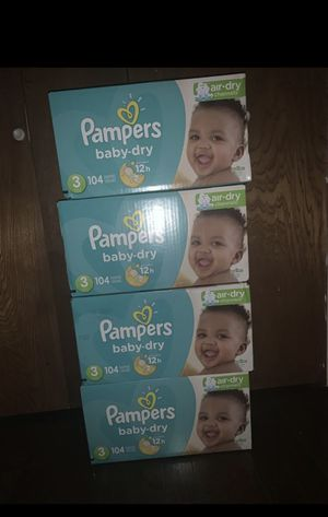 SIZE 3 DiAPERS PAMPERS! $20 EACH. for Sale in Dallas, TX