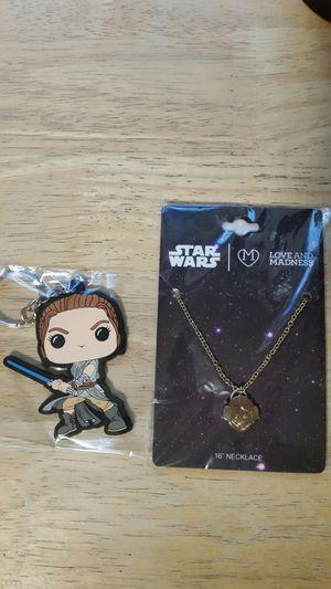 Star Wars jewelry keychain Princess Leia Rey Rise of Skywalker Funko Disney lot gold for Sale in Hartford, CT