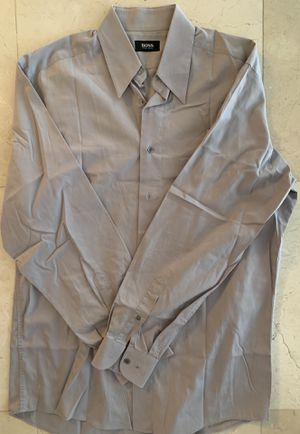 Hugo Boss Men luxury grey dress shirt 15.5 | 34/35 for Sale in Miami, FL