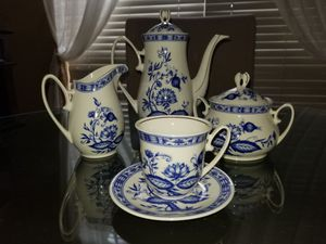 Antique blue and white bone china tea set for Sale in Ocoee, FL