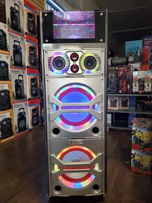 Bocina Nueva BLUETOOTH !!! Profesional Disco Ball LED Bluetooth Speaker Tower Karaoke With Disco Lights 🎆🎉🌈 ( Con Bajo Super FUERTE 🔊🔊🔊) !!! ) for Sale in Los Angeles, CA