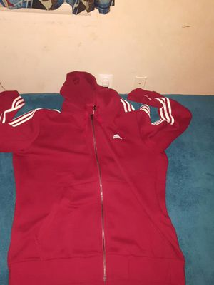 Adidas red jacket hoodie for Sale in Rockville, MD