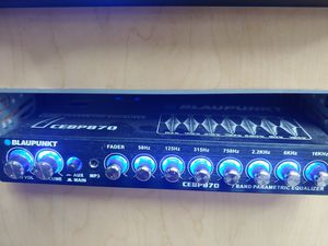 Car audio system : Blaupunkt 7 band equalizer 7v rms for Sale in Bell Gardens, CA