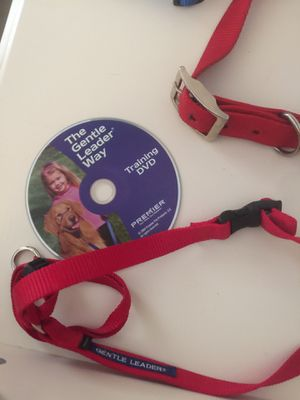 Medium size dog collars with Gentle Leader training DVD for Sale in EASTAMPTN Township, NJ