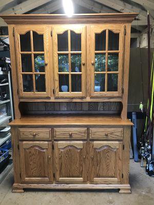 Solid Oak Hutch for Sale in Lyndhurst, VA