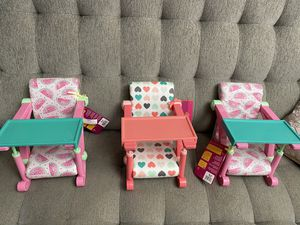 American doll high chair for Sale in Fresno, CA
