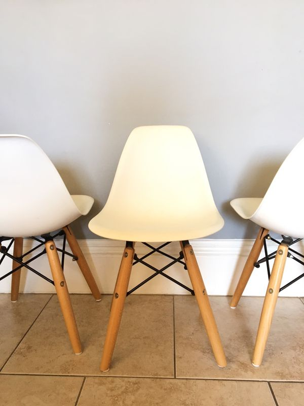 4 mid century kids chairs