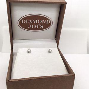 14k White Gold Diamond Stud Earrings for Sale in Phoenix, AZ