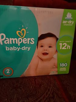 Pampers baby Dry Size 2 $33 for Sale in Los Angeles,  CA