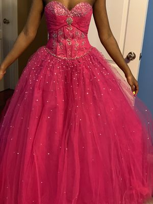 Hot pink Pageant gown size 0 for Sale in Snellville, GA