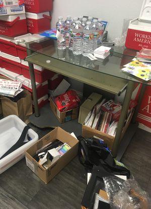 glass desk for Sale in Modesto, CA