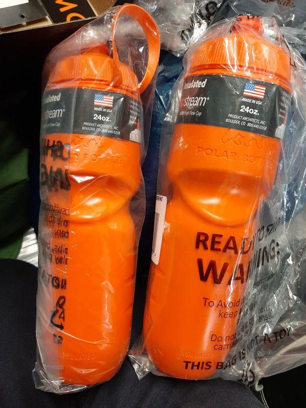 3 NEW Polar 24-oz soft insulated water bottles