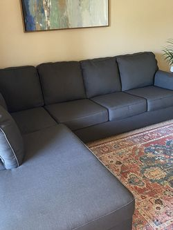 Comfortable Sturdy Modern Couch With Lounge Chaise for Sale in Chino Hills,  CA