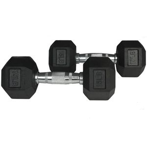 Set of 15 lb Rubber Hex Dumbbells Weights ***New*** for Sale in El Monte, CA