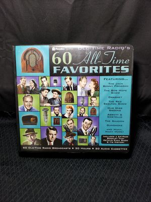 Old time radio 60 all time favorites Audio cassette set for Sale in Zanesville, OH