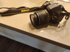 Nikon 5200 with lense + flash + filters+64GB sd card for Sale in Milpitas, CA