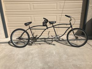 1950's custom tandem beach cruiser 2 classic bikes put together. Schwinn straightbar or Columbia unsure, have heard both from supposed experts for Sale in San Diego, CA