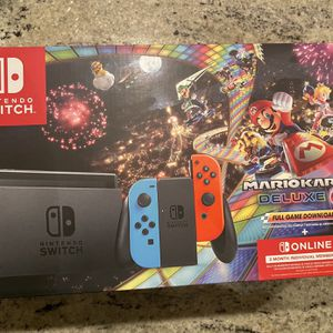 Nintendo Switch Console Bundle With Mario Cart 8 deluxe Game for Sale in Arlington, VA