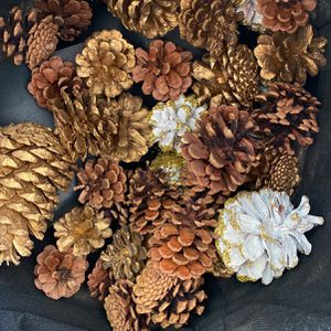 Gold, Glitter, Natural pine cone Assortment for Sale in Encinitas, CA