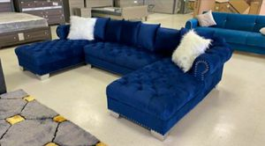 Camberly double chaise Sectional💎 NO CREDIT CHECK❤️same day delivery for Sale in Houston, TX