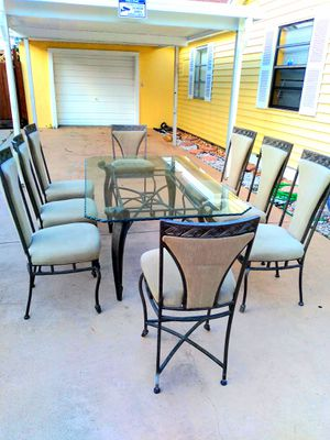 glass top dining table for Sale in West Palm Beach, FL