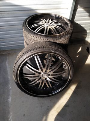 22 s Rims and tires for Sale in Bakersfield, CA
