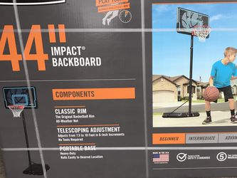 """New In Box Lifetime 44"""" Portable Basketball Hoop for Sale in Warren,  OR"""