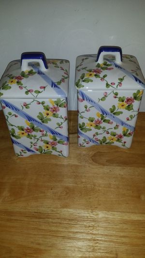 Set of 2 ceramic storage containers for Sale in Smyrna, GA