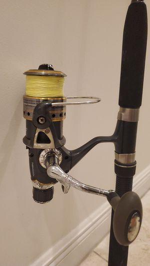 Tsunami Baitrunner Fishing Reel TSBS4000A Baitsystem 30lb braid Master Blackfinn 7 ft Rod pole for Sale in Fort Lauderdale, FL
