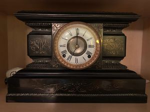 1882 American made insignia metal mantle clock for Sale in Wellington, FL