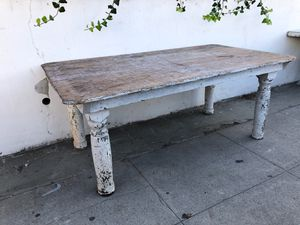 Antique wide board farm table for Sale in Los Angeles, CA