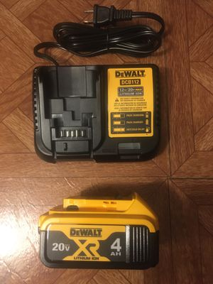 DeWalt. 12V/20V MAX Lithium Ion Charger and XR 4.0Ah Battery Pack. DCB204. for Sale in Brooklyn, NY