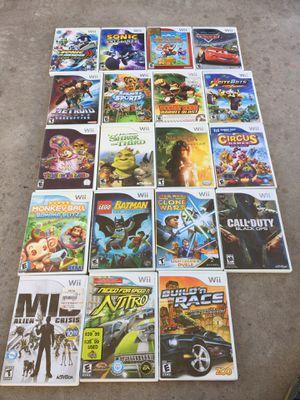 Wii games 10 each for Sale in Glendale, AZ