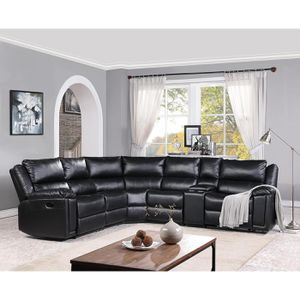 Kingston reclining sectional(black) with USB ports and cup holders for Sale in St. Louis, MO