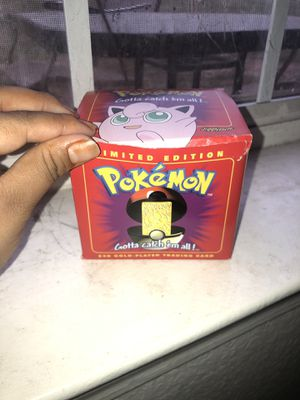 Limited edition Pokemon 23k gold plated trading cards for Sale in Sudley Springs, VA