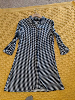 Plaid & pearls shirt dress for Sale in Rockville, MD