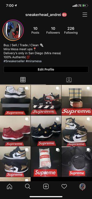 FOLLOW Instagram sneaker page‼️‼️ for Sale in San Diego, CA