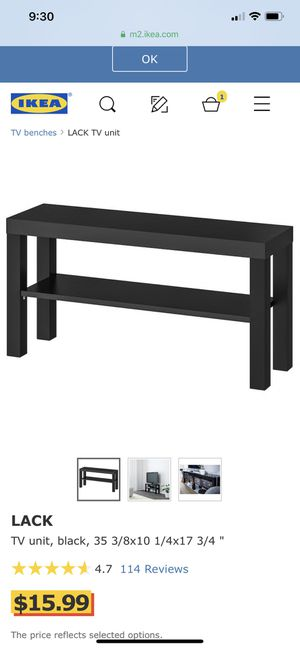 IKEA TV Stand Black for Sale in Seattle, WA