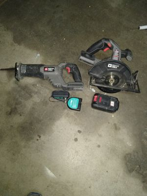 Porter Cable 18v cordless circular saw and sawsall for Sale in Mesa, AZ