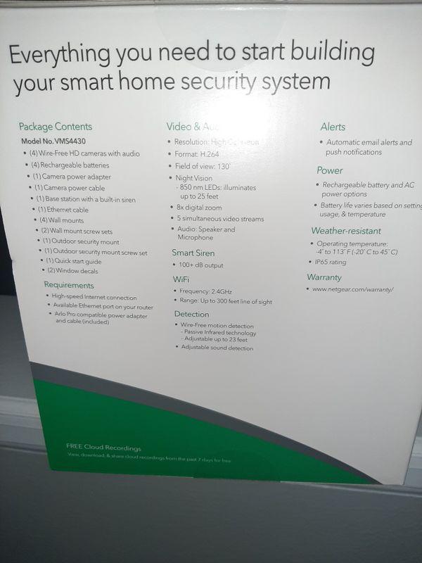 Arlo pro security system wireless