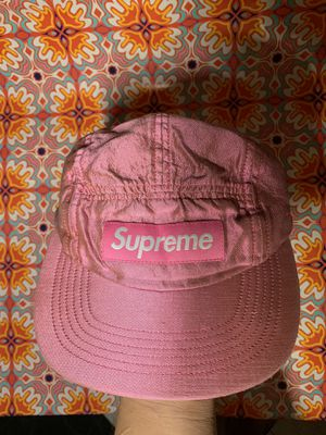 Supreme Raw Silk FW17 Pink Camp Strapback Cap Hat for Sale in Garden Grove, CA