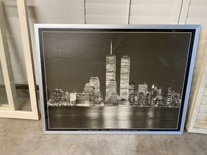 FREE framed twin tower photo for Sale in Lakewood, CA