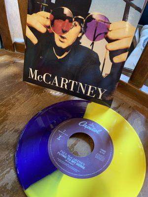 Paul McCartney colored 45 vinyl for Sale in Mishawaka, IN