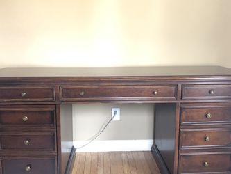 "Ethan Allen Credenza Executive Desk ""Buckley"" for Sale in Seattle,  WA"