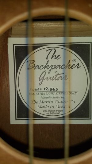 Martin Backpacker guitar with bag for Sale in San Francisco, CA