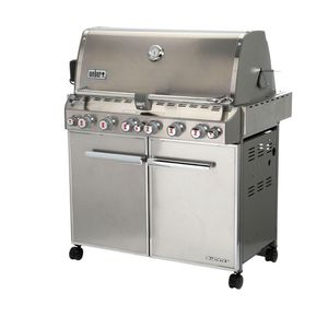 Weber Summit S-660 6-Burner Built-In Natural Gas Grill in Stainless Steel with Grill Cover and Built-In Thermometer Home and Garden TX for Sale in Houston, TX
